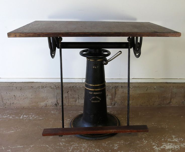 Antique Drafting Table F.O. Weydell 1919-1920 Cast Iron Industrial Table by stonehousevintage on Etsy