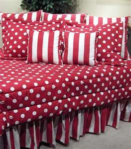 Red & White Polka Dot Bedding! I LOVE this!!!