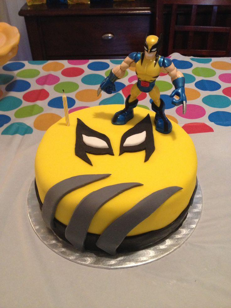 Fondant. Wolverine cake