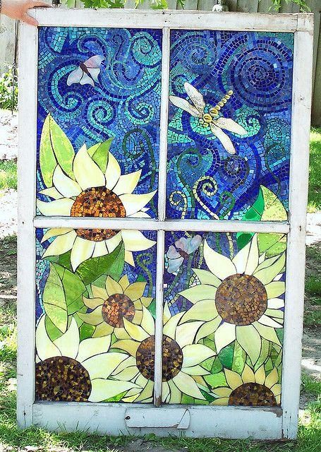 Sunflower window via Flickr