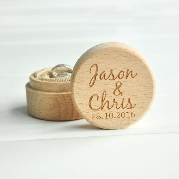 Personalized Rustic Ring Bearer Box , Wooden Wedding Ring Box Bearer Pillow Box in Home, Furniture & DIY, Wedding Supplies, Ring Pillows & Flower Baskets | eBay!