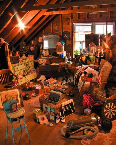 like most atticsGrandma Attic, Cleaning, White Mountain, Attic Playrooms, Treasure Hunting, Basements, Attic Storage, Attic Treasure, Antiques