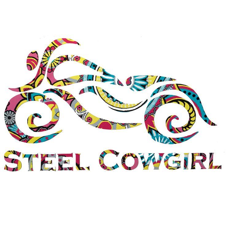 Steel Cowgirl BRIGHT PAISLEY Motorcycle Helmet Decal Sticker - Motorcycle helmet decals for women