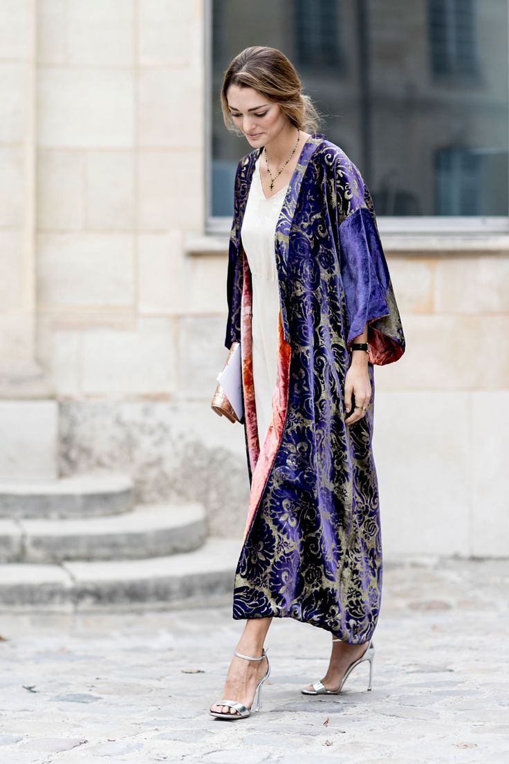 printed duster street style