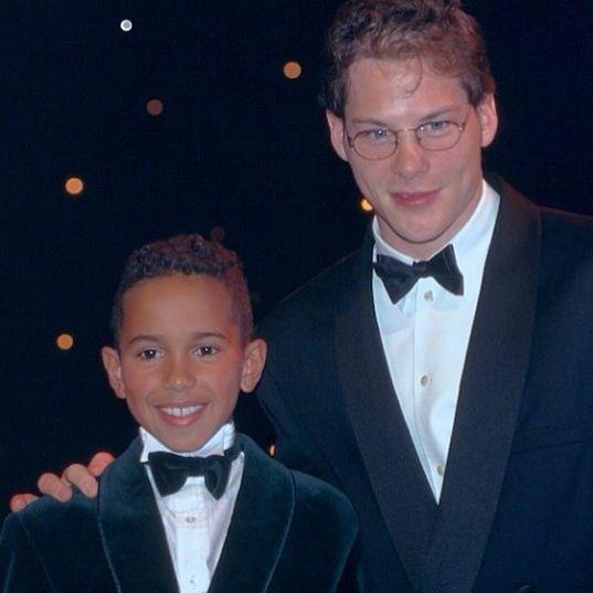 Jacques Villeneuve and Lewis Hamilton 1995