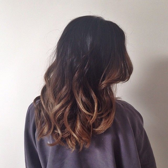 This is what I'm trying to do with my hair, not sure if it's coming out that way though lol- soft ombre, brunette