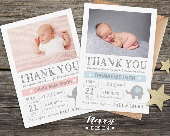 Birthday Thank You Card Personalised Thank You Cards With Etsy Birthday Thank You Cards Baby Thank You Cards Personalized Thank You Cards