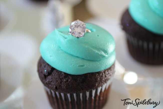 Breakfast at Tiffanys Cupcake - It would be a fun girl's night theme. Watch the movie and eat the cupcakes.