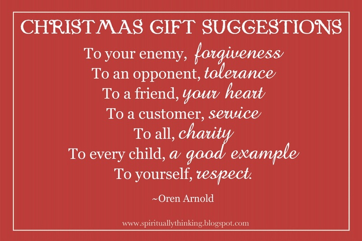 Christmas Gift Suggestions~<3