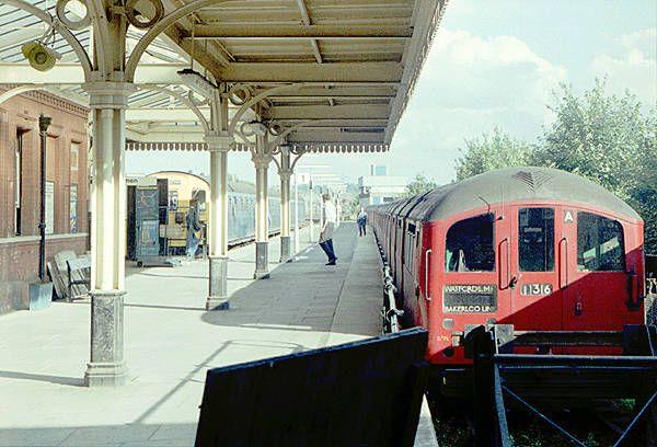 1938 Bakerloo line stock at Watford Junction