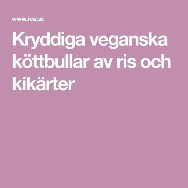 Kryddiga veganska köttbullar av ris och kikärter