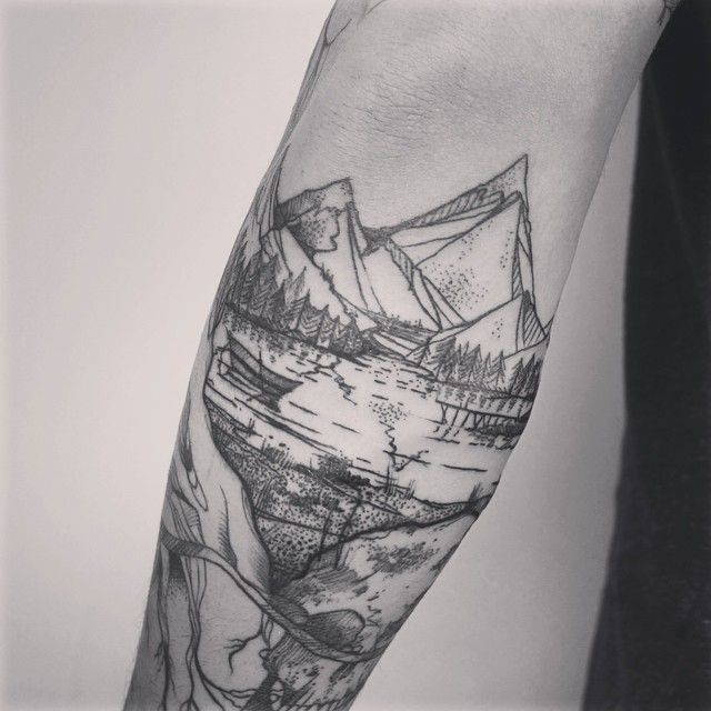 nice nature tattoo