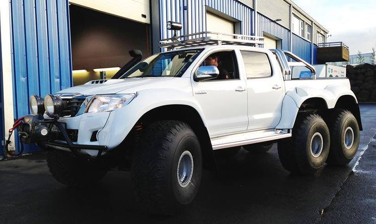 Icelandic Toyota Hilux 6x6. I would actually consider Having a Toyota if this was an option.