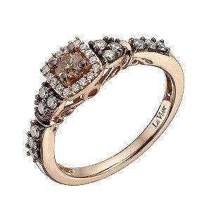 Ernest Jones - Le Vian 14ct strawberry gold 51 point chocolate diamond ring