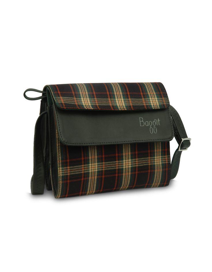 Modishx Checksy Green   Buy Now : www.baggit.com