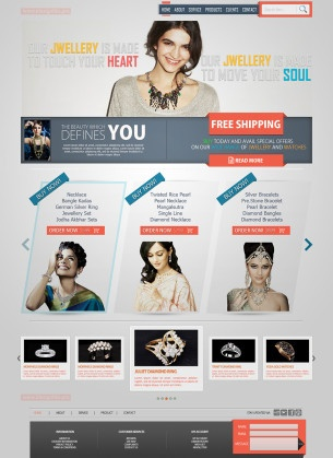 An Online Jewelry Shop Web Design