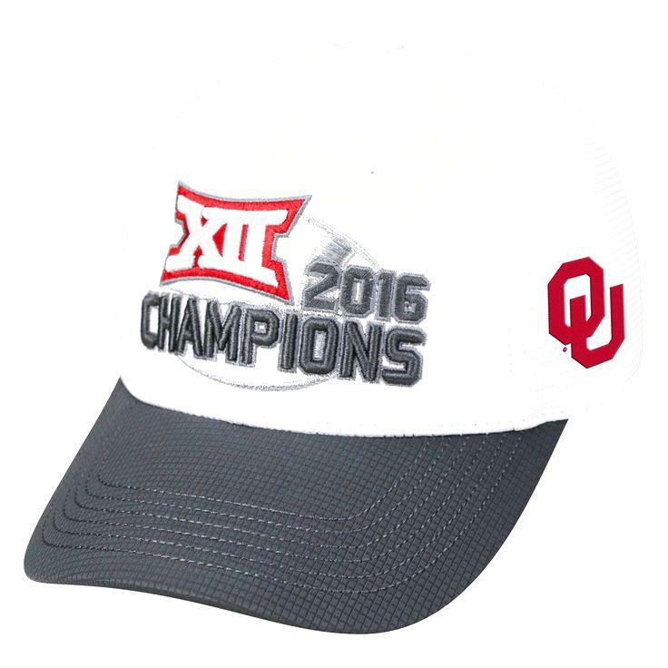 Oklahoma Sooners Top of the World 2016 Big 12 Football Conference Champions Locker Room Snapback Adjustable Hat - White - $23.99