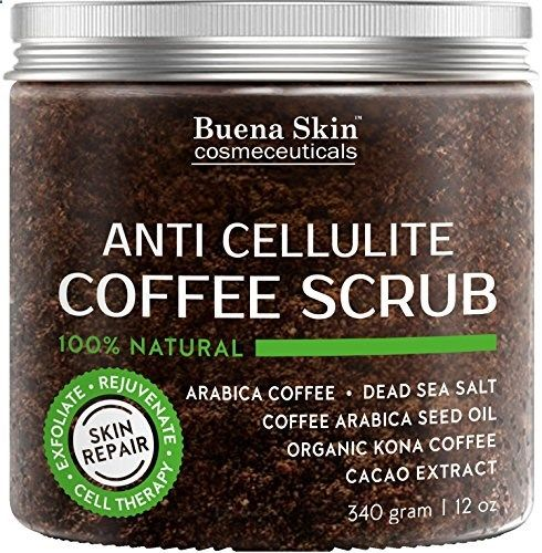 Anti Cellulite Coffee Scrub 100% Natural With Organic Cof...
