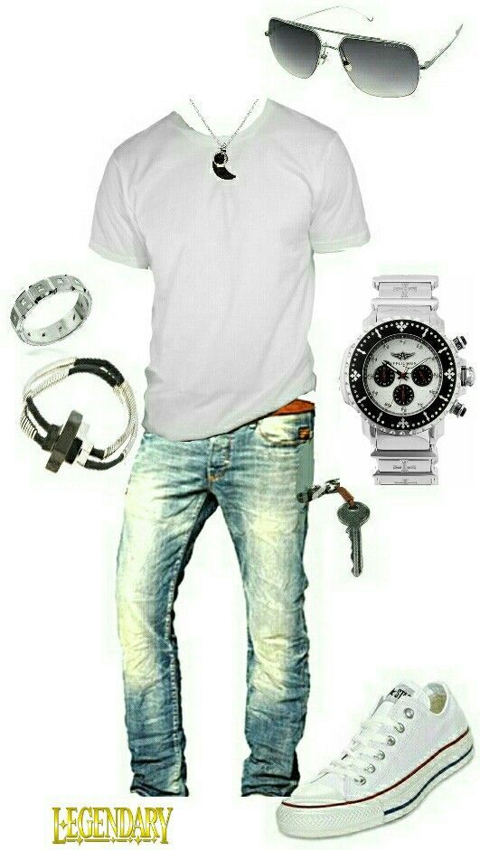 Men's fashion casual jeans outfit...