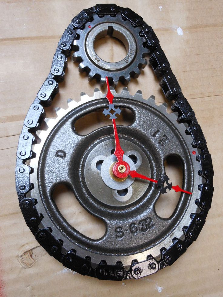 Timing gear and chain clock - Almost free to make!