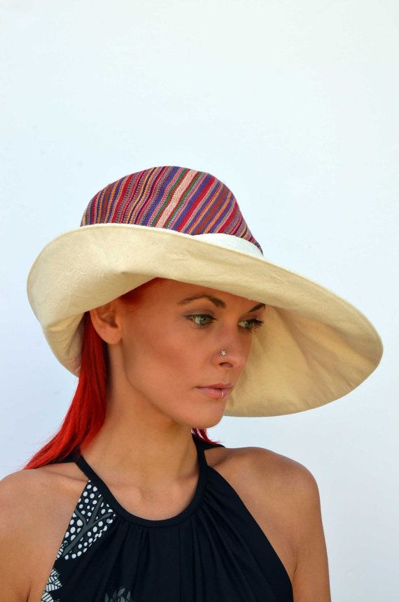 Hey, I found this really awesome Etsy listing at https://www.etsy.com/listing/234229650/wide-brim-cream-hat-summer-hat-floppy