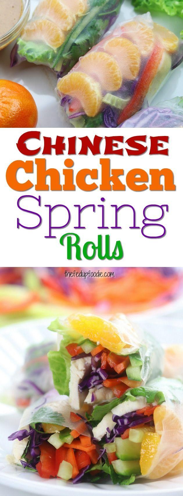 25+ bästa Chicken spring rolls idéerna på Pinterest ...
