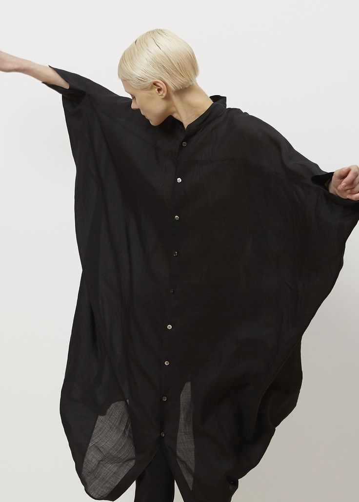 Junya Watanabe Black Shirt Dress