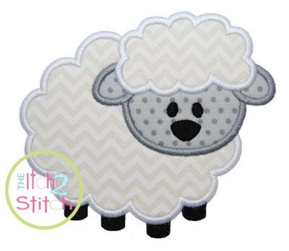 a977c64825b6 Lamb Applique Design Hoop Size 4x4