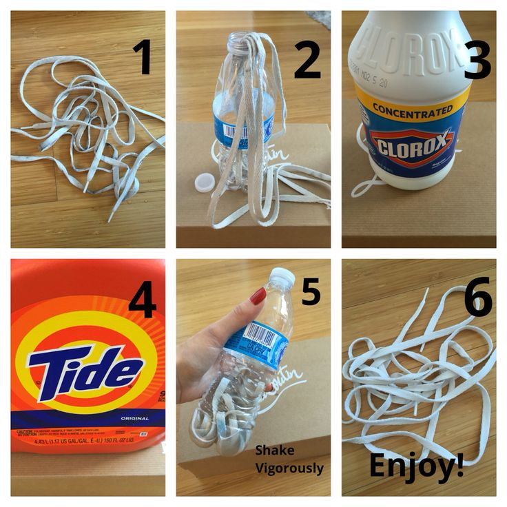 Easiest way to wash white shoelaces | Easiest way to wash ...
