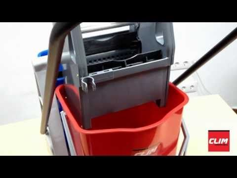 Carro de fregado con doble cubo 24 litros y prensa, venta online en http://www.climprofesional.com/carros-de-limpieza-y-cubos-de-fregado/358-carro-fregado-doble-cubo-24lt-prensa-8410262000700.html