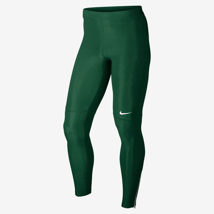 Nike Dri Fit Filament Green Running Training Tights Pants 519985-341 Men's Small #Nike #BaseLayers