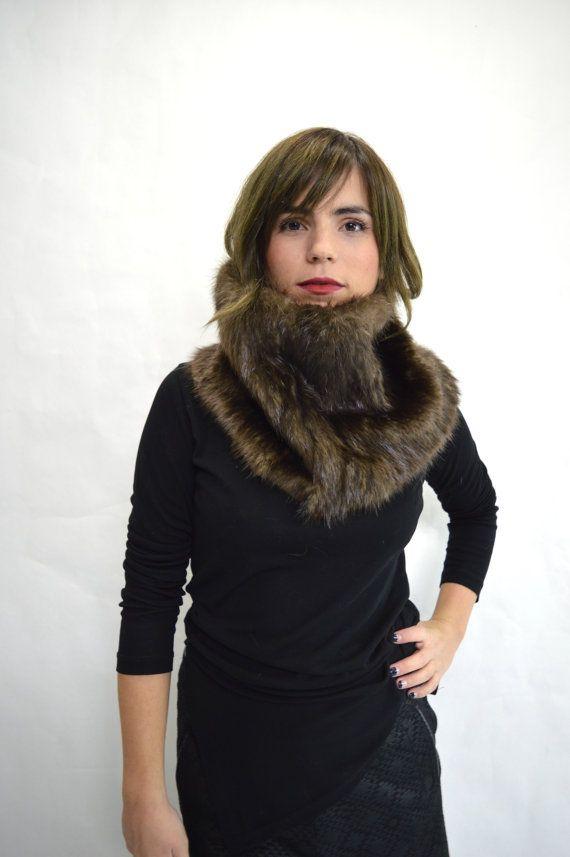 Real fur collar beaver fur cowlreal beaver fur fur collar by BeFur