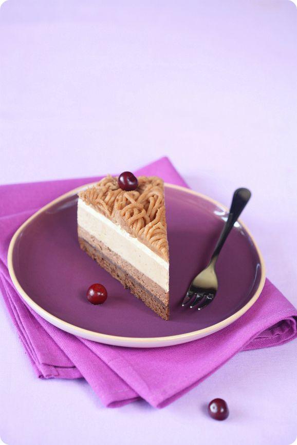 Verdade de sabor: torta di castagne con panna montata / Torta mousse de castanha Portuguesa com chantilly