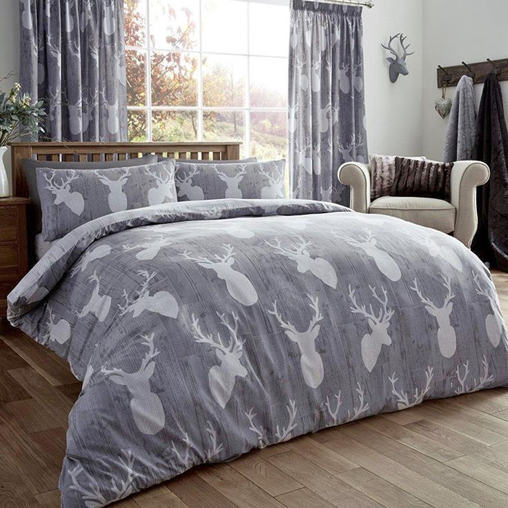 jc ® clearance king size duvet cover set stag grey