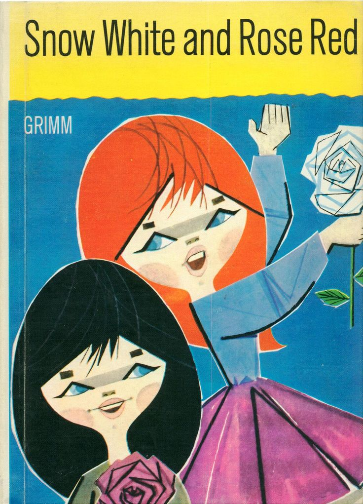 kidlitstorytime:  Snow White and Rose Red by Grimm, retold by Maxine S. Morris, illustrated by Pablo Ramirez c.1966
