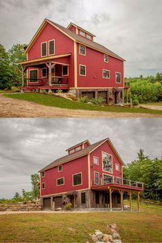 Best 25 post and beam ideas on pinterest cabin floor for Red barn plans