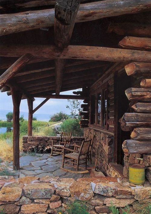 1000 images about rustic cabin on pinterest cabin for Log cabin porch