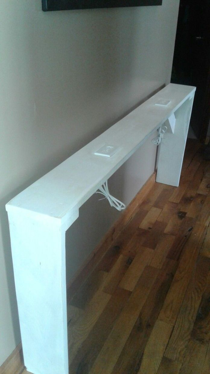 Sofa Table With Charging Stations Diy Sofa Table Shelf Decor Bedroom Home Diy