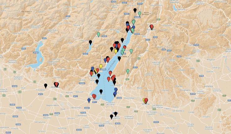 Auf unserer Karte vom Gardasee zeigen wir Ihnen, wo Sie die besten Strände, schönsten Restaurants und Ausflugsziele finden.