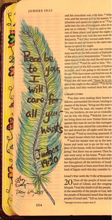 Easy Bible Art Journaling Journey: Judges 19:20 (May 6th)