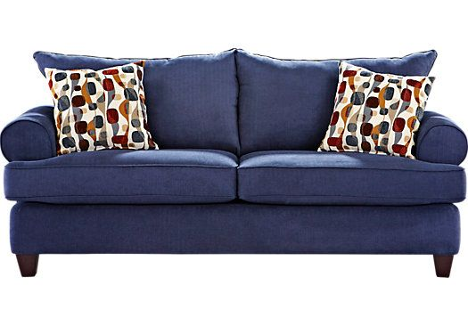 Shop For A Ansley Park Navy Sofa At Rooms To Go Find