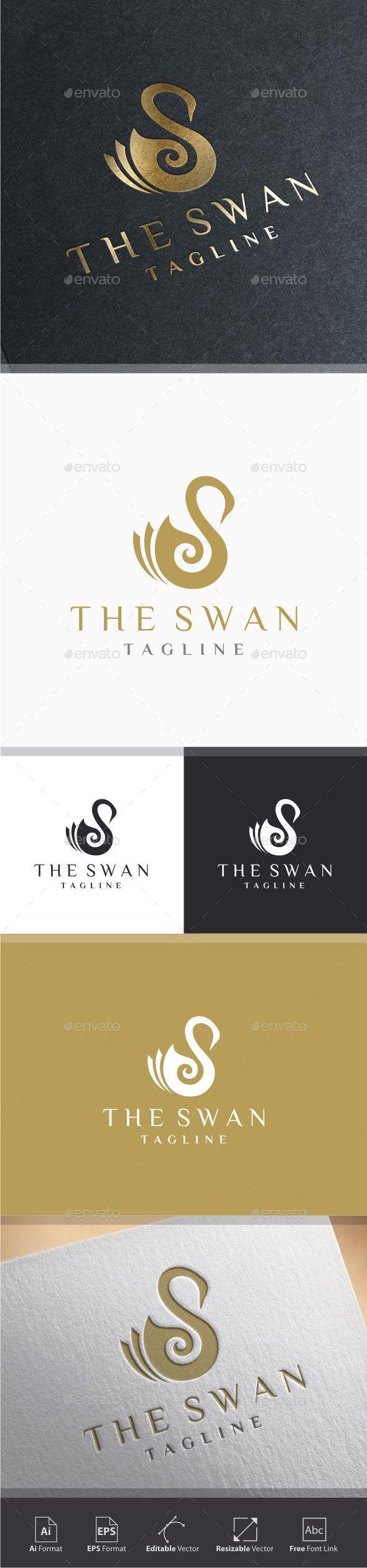 Swirl Swan Letter S Logo 668