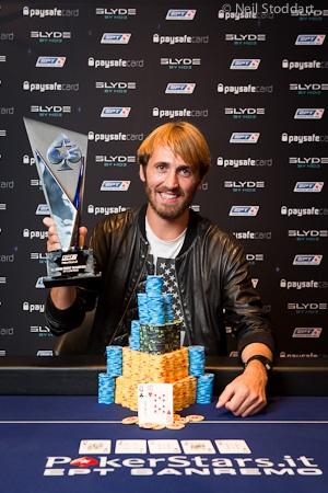 Francezul Ludovic Lacay are motive de bucurie. A trecut de la 'poker is going terrible', la 'feels pretty good; it's amaizing', castigand Main Event-ul EPT San Remo si €750.000.