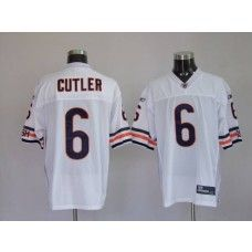 Bears #6 Jay Cutler White Stitched NFL Jersey
