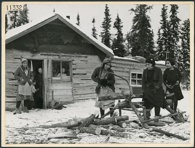 nenets woman cutting firewood - photo #20