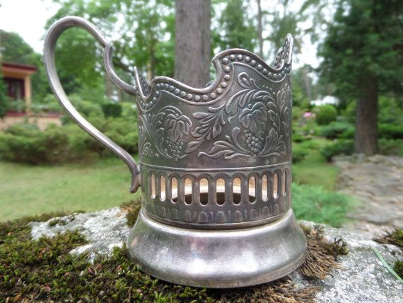 Russian Tea Glass HoldersSoviet Tea Glass by CodettiSupply on Etsy