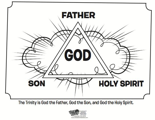 The Trinity Coloring Page