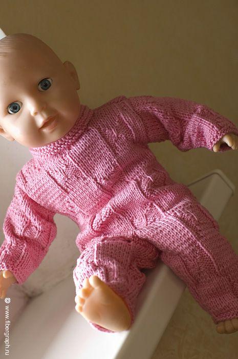 Jumpsuit for Ponyo doll  #fibergraph #jumpsuit #knit #doll #dollclothes #handmade