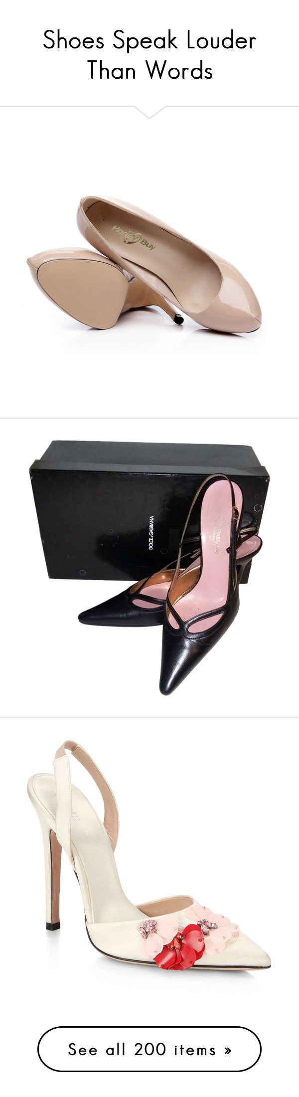 """""""Shoes Speak Louder Than Words"""" by moomoofan1972 ❤ liked on Polyvore featuring shoes, pumps, nude patent leather pumps, famous footwear, nude court shoes, breast pump, nude shoes, black, black leather pumps and leather slingback shoes"""