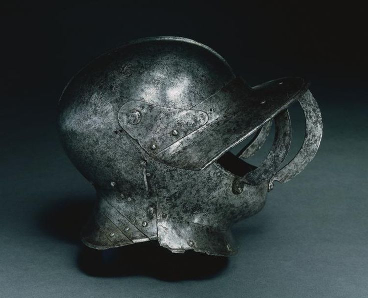 Close Helmet (Burgonet), early 1500s Italy, Milan (?), early 16th Century steel, Overall - h:34.30 w:25.70 d:22.20 cm (h:13 1/2 w:10 1/16 d:8 11/16 inches) Wt: 2.88 kg